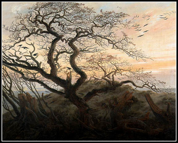 L'arbre aux corbeaux de Caspar David Friedrich